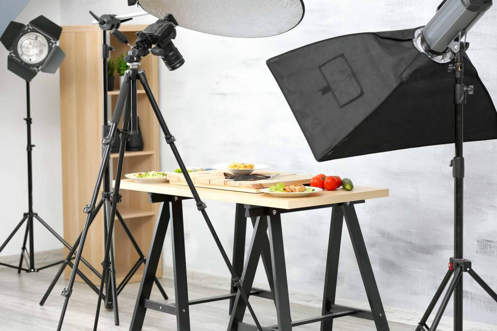 Equipment for food videography