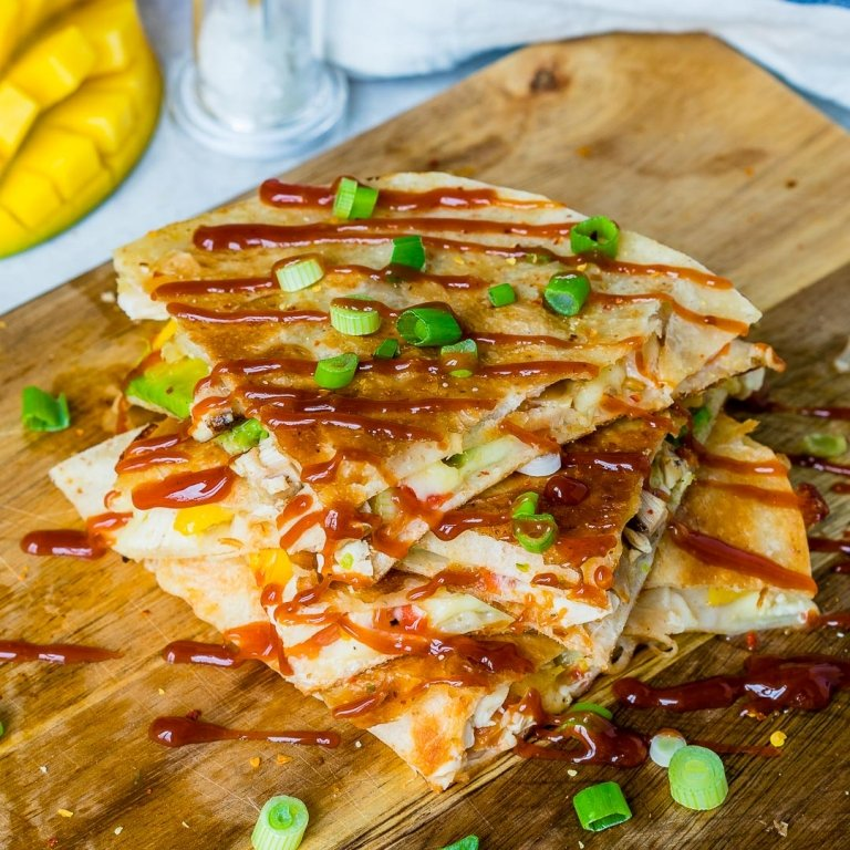 Food Photography and Food Videography - Cheesy Chicken Quesadilla